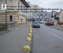 Postavljanje trotoar kugli